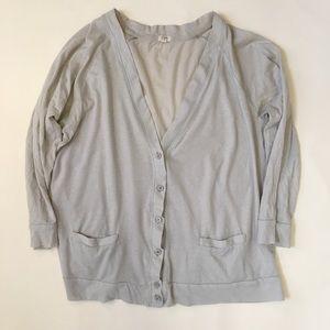 J. Crew Factory Tissue Cardigan in Soft Dove